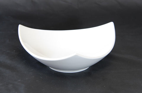 "7.2"" Raised White Porcelain Triangle Bowl"