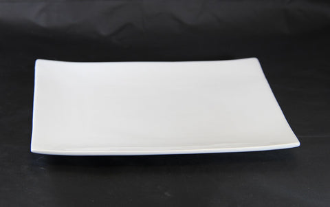 "14"" Raised White Porcelain Platter"