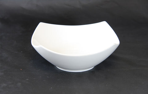7.5' Raised White 4 Corner Bowl