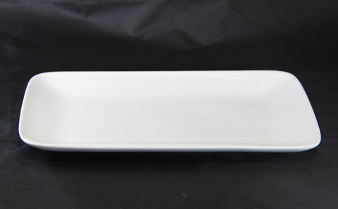 30.8cm Rectangle White Porcelain Dinner Plate