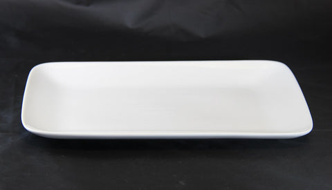 23cm Rectangle White Porcelain Side Plate