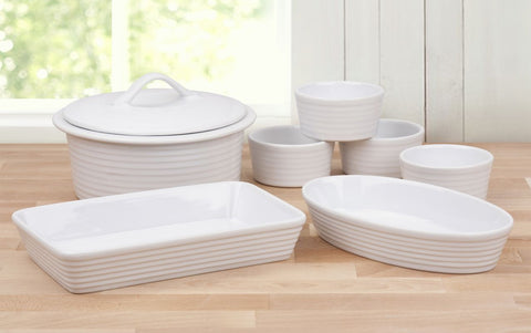 7 Piece White Ovenware Set - CLEARANCE - LAST YEARS STOCK