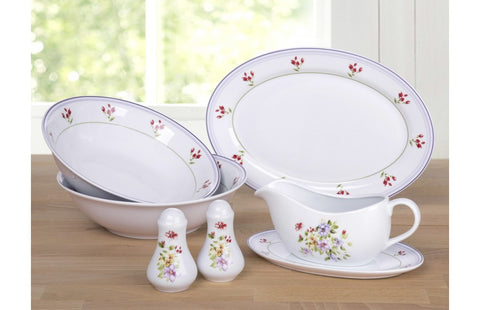 6 Piece Country Garden Serving Set