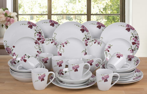 32 Piece Orchid Dinner Set - CLEARANCE - LAST YEARS STOCK