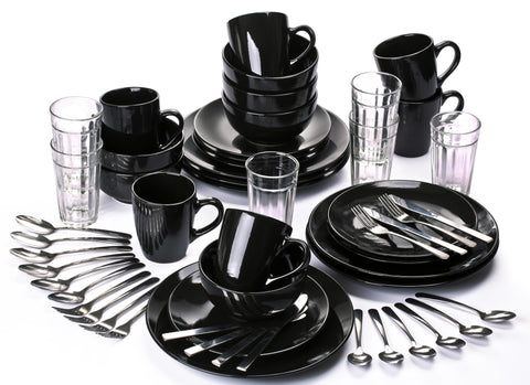 54 Piece Hoxton Black Combo Starter Set - CLEARANCE LINE