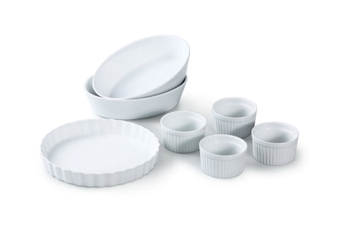 White 7pc Baking Set