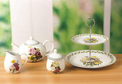 4 Piece Spring Posy Tea Set
