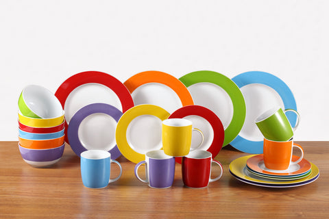 24 Piece Colour Burst Dinner Set