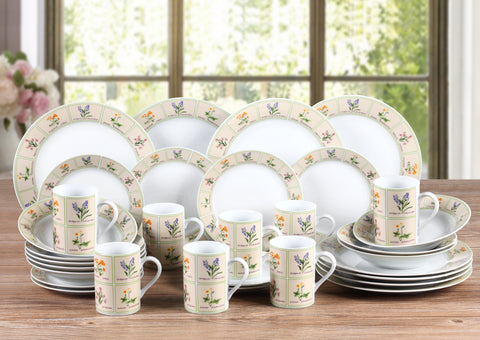 32pc British Wild Flowers Dinner Set - CLEARANCE LINE - MUST GO!