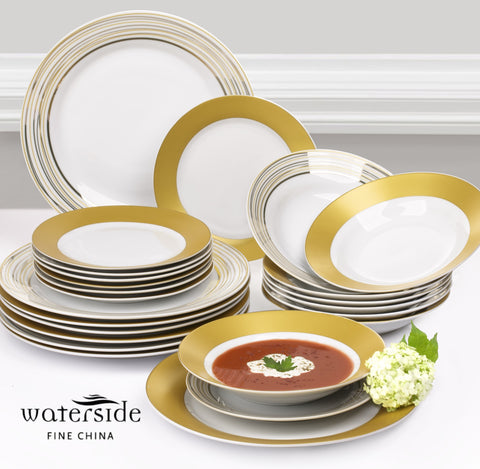 24 Piece Majestic Gold Dinner Set