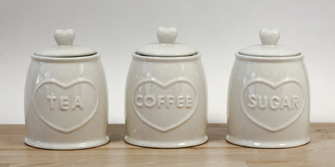3 Piece Country Heart Canisters - CLEARANCE LINE