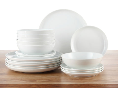 18pc Maine White Dinner Set