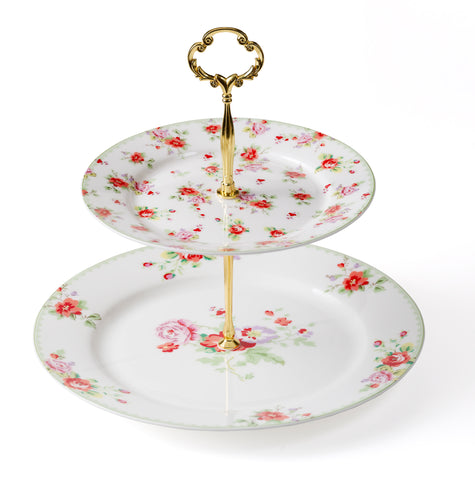 2 Tier Cake Stand-Fine Bone China