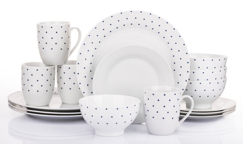 16 Piece Twilight White Dinner Set