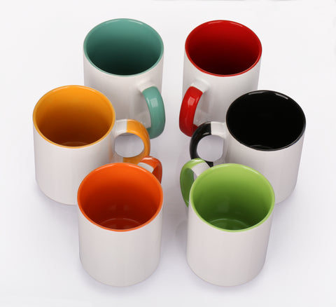 96 Pieces Rainbow Mugs – 6 Colours (Flourish House)