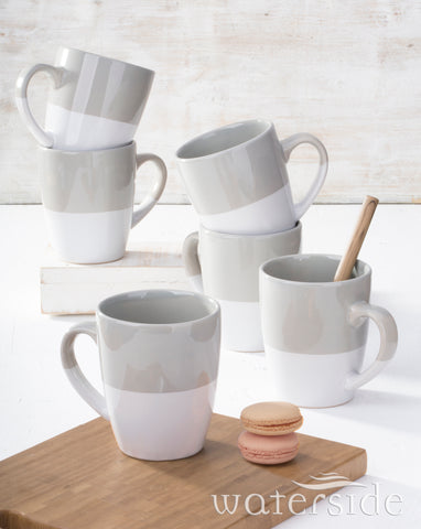 6pc Dipped Grey Mug old