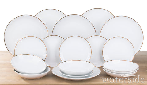 18 Piece Goldline Dinner Set