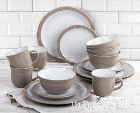 16 PIECE TAUPE CAMDEN DINNER SET