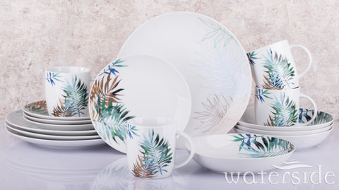 16pc Luxe Leaf Dinner Set