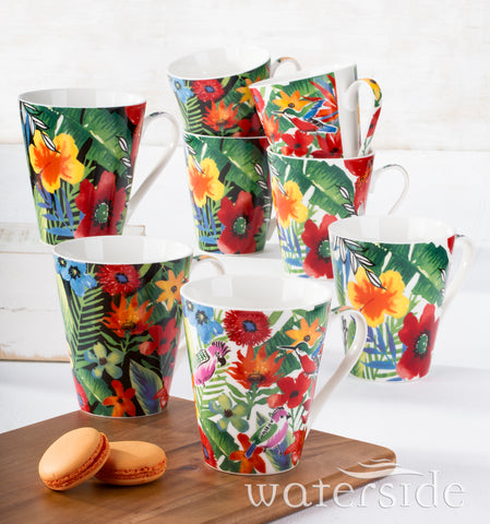 8pc Tropical Mugs