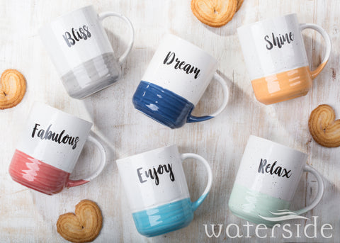 6pc Slogan Dipped Mugs