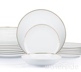 24pc Gold Band Dinner Set