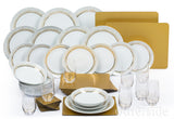 Waterside Sparkle 50 Piece Dinner Set - Gold