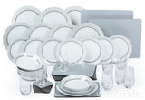 Waterside Sparkle 50 Piece Dinner Set - Silver