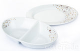 2pc Gold Star  Porcelain Serving Set