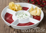 Highland Tartan Round Chip & Dip Party Dish