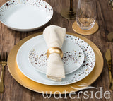 24pc Gold Star Dinner Set
