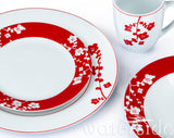 24pc Red & White Festive Blossom