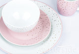 16pc Pink & Gold Dinner Set