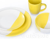 16pc Duo Dinner Set – Yellow/White
