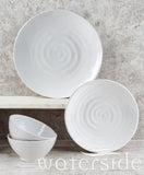 12pc  Embossed Melamine Dinner Set