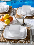 12pc  Square Melamine Dinner Set