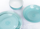 16pc Aqua Splash Spin Wash Dinner Set