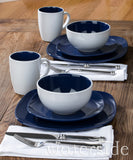 16pc Nova Square Dinner Set  Blue
