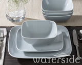 18pc Hampton Square Dinner Set Grey