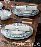 16pc Grey Stripe Dinner Set