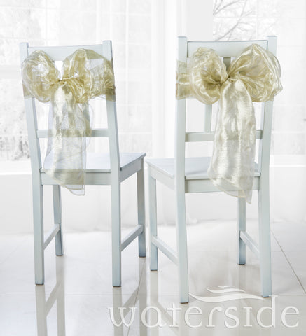 6pc Chair Bows -GOLD