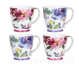 Set of 4 Floral jumbo cups