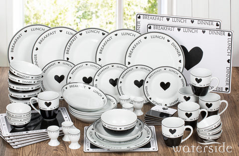 56PC Script Made with Love Dinner set -no cutlery