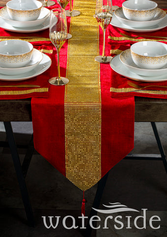 Diamante Runner Red Set + Gold