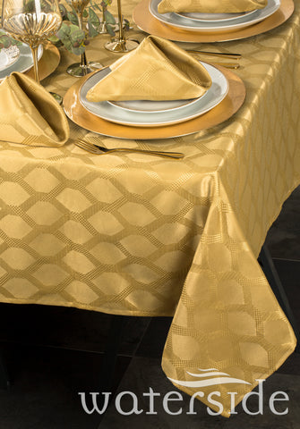 9pc GOLD Geo Table Linen Set