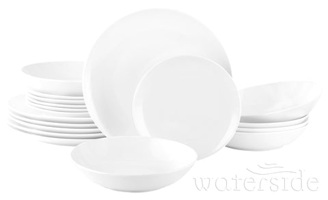 18pc White Everyday Round Dinner Set