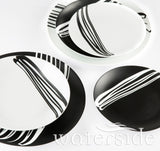 24pc Milan Black/White Dinner Set