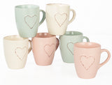 6pc Heritage Heart Mug Set