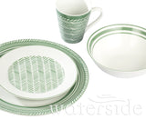 32pc Sage Herringbone Dinner Set