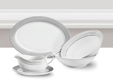 5 Piece Platinum Majestic Serving Set